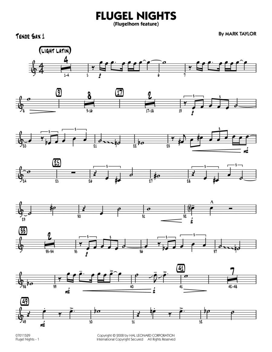 Flugel Nights (Flugelhorn Feature) - Tenor Sax 1
