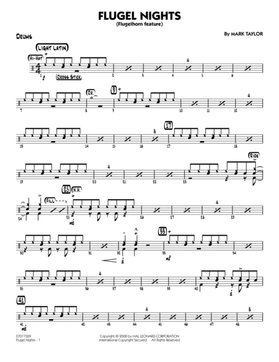 Flugel Nights (Flugelhorn Feature) - Drums