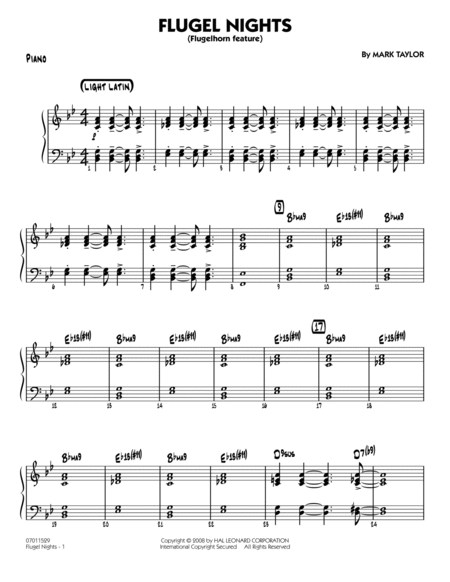 Flugel Nights (Flugelhorn Feature) - Piano