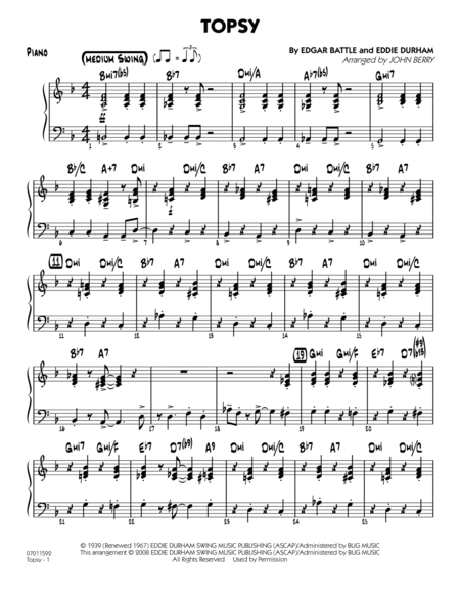 Topsy - Piano