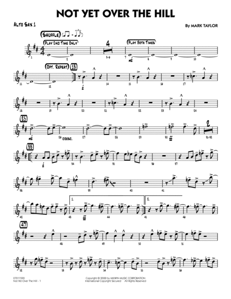 Not Yet Over the Hill - Alto Sax 1