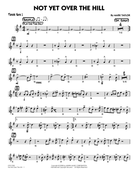 Not Yet Over the Hill - Tenor Sax 1