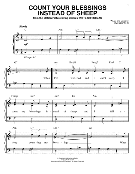 download count your blessings instead of sheep sheet music by bing crosby sheet music plus. Black Bedroom Furniture Sets. Home Design Ideas