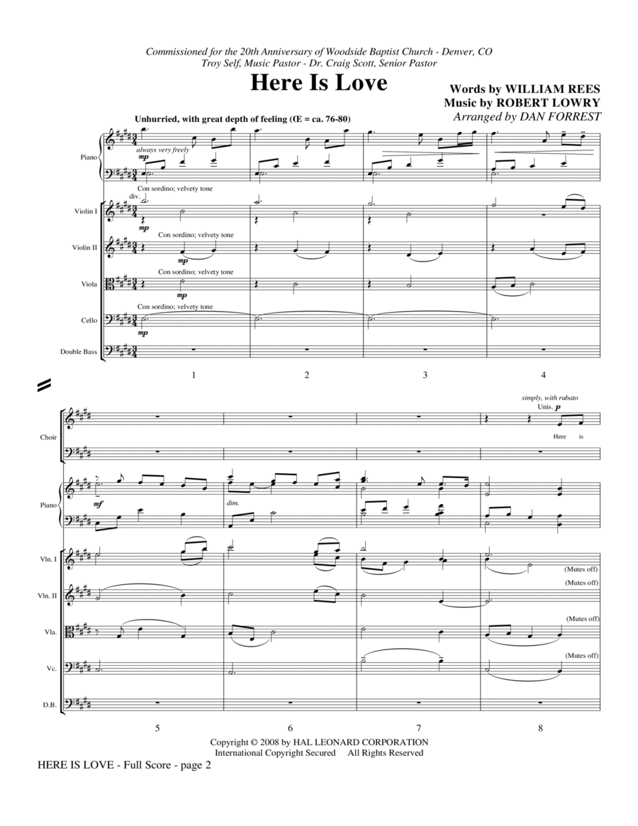 Here Is Love - Full Score
