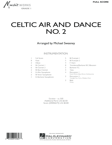 Celtic Air and Dance No. 2 - Full Score