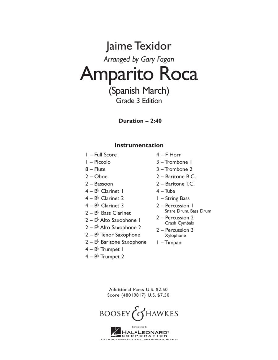 Amparito Roca - Conductor Score (Full Score)