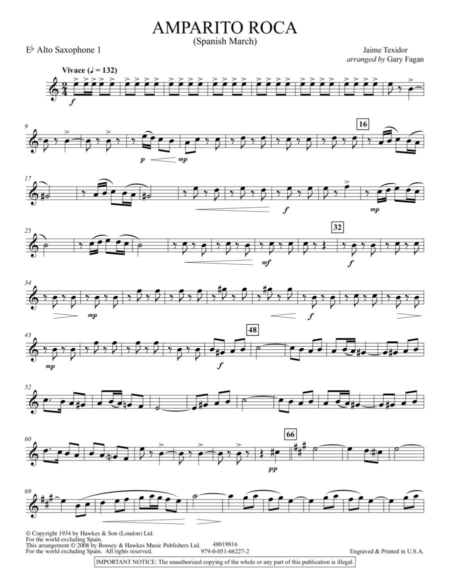 Amparito Roca - Eb Alto Saxophone 1
