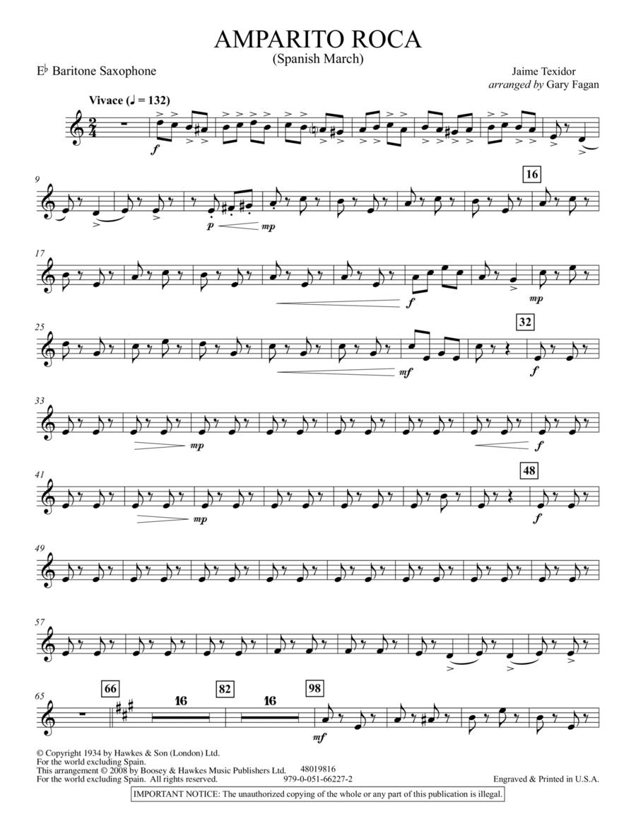 Amparito Roca - Eb Baritone Saxophone