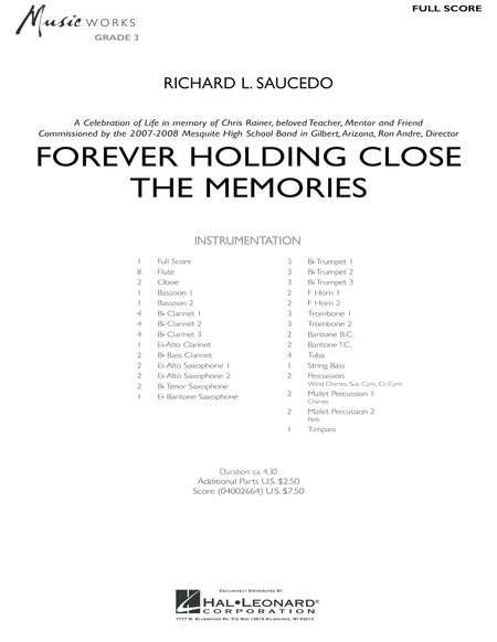 Forever Holding Close the Memories - Full Score