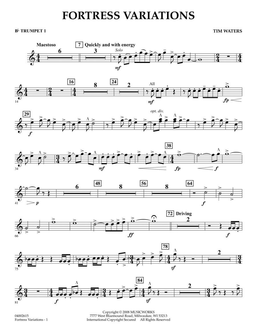 Fortress Variations - Bb Trumpet 1