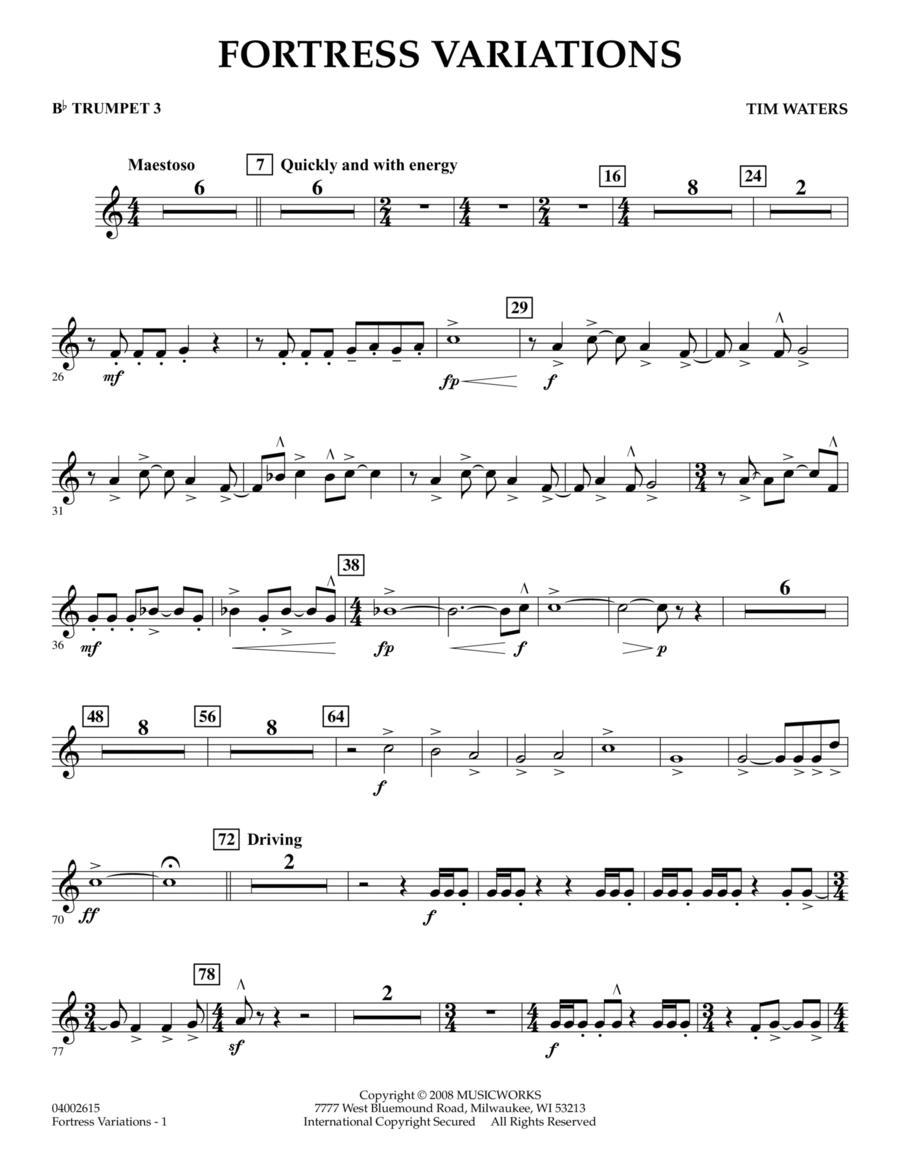 Fortress Variations - Bb Trumpet 3