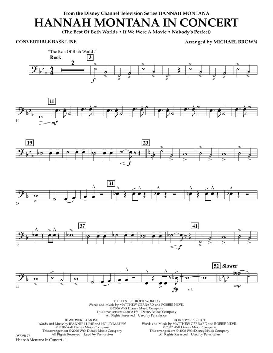 Hannah Montana in Concert - Convertible Bass Line