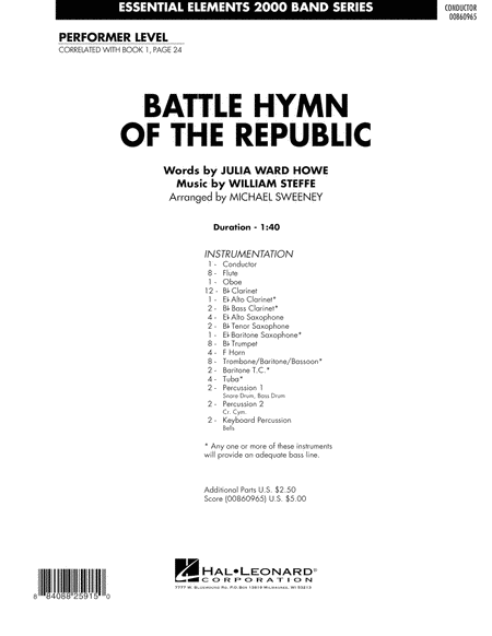 Battle Hymn of the Republic - Full Score