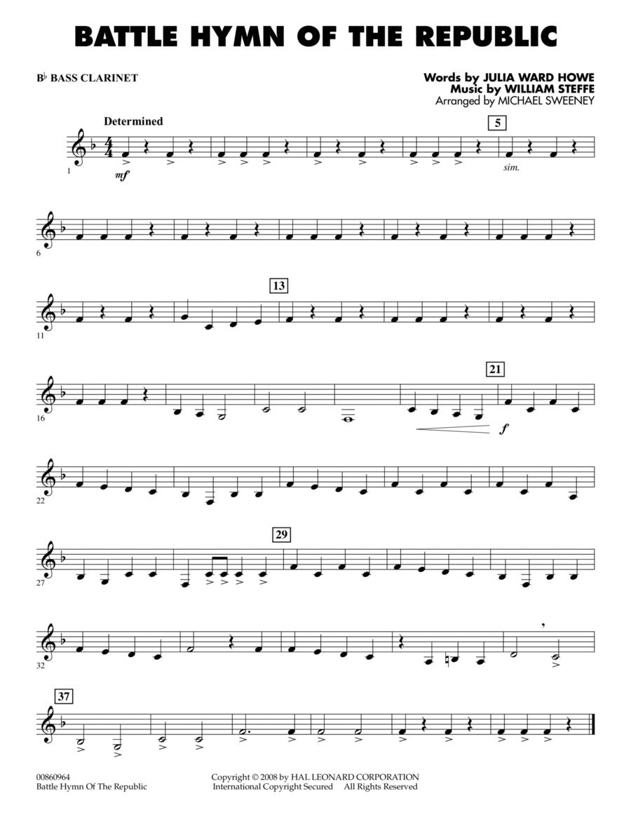 Battle Hymn of the Republic - Bb Bass Clarinet