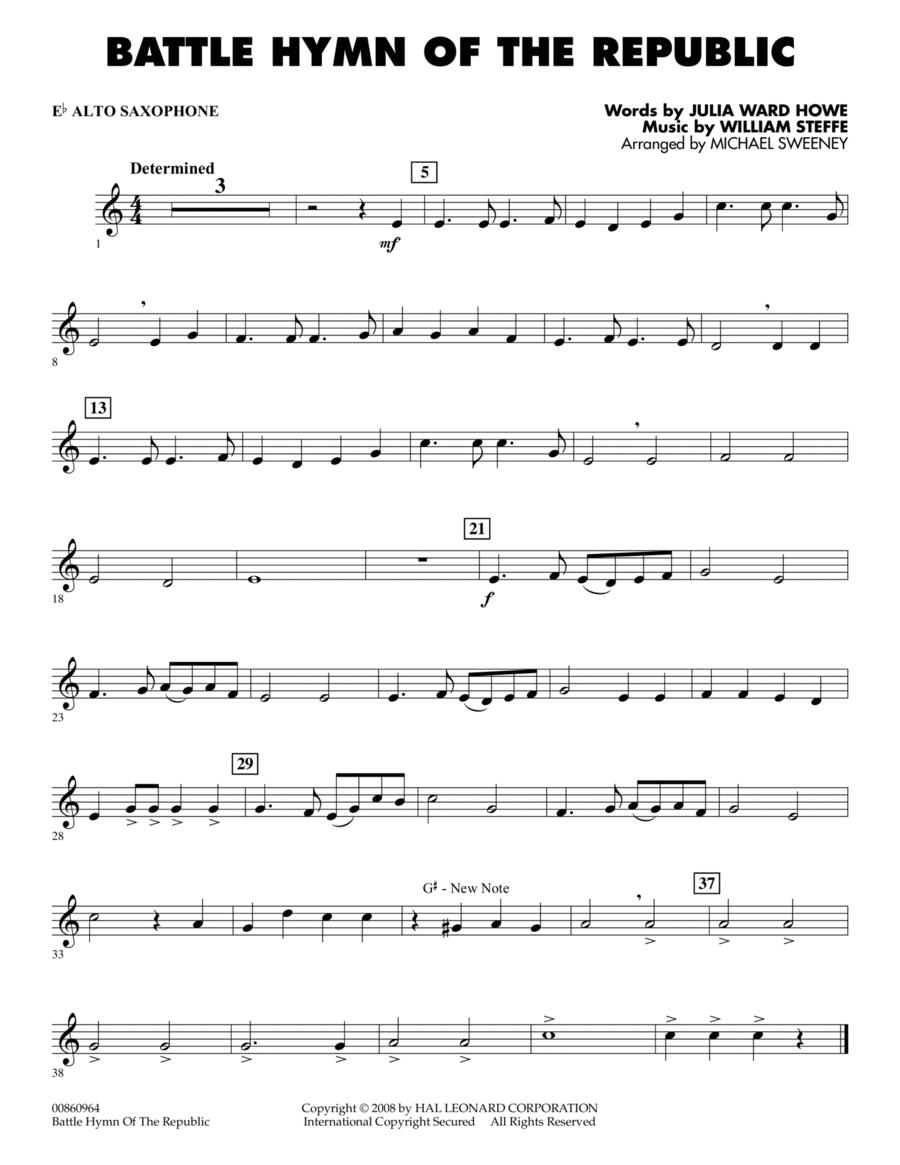 Battle Hymn of the Republic - Eb Alto Saxophone
