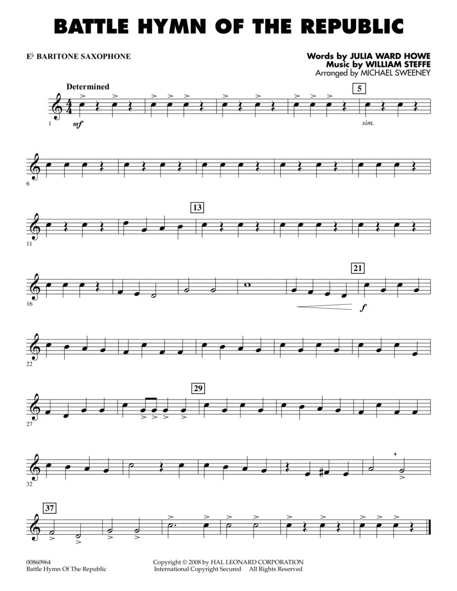 Battle Hymn of the Republic - Eb Baritone Saxophone