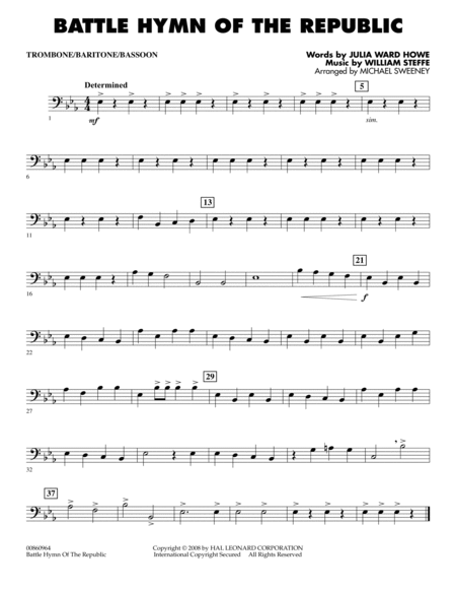 Battle Hymn of the Republic - Trombone/Baritone B.C./Bassoon