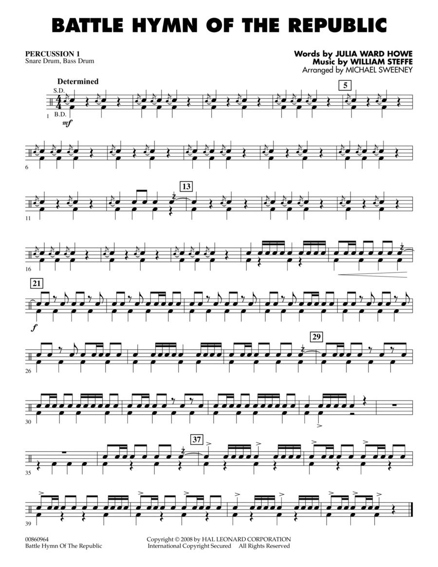 Battle Hymn of the Republic - Percussion 1