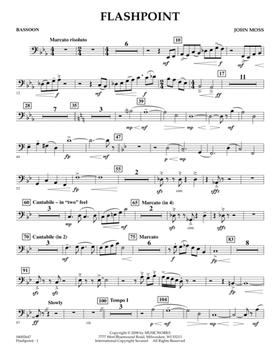 Flashpoint - Bassoon