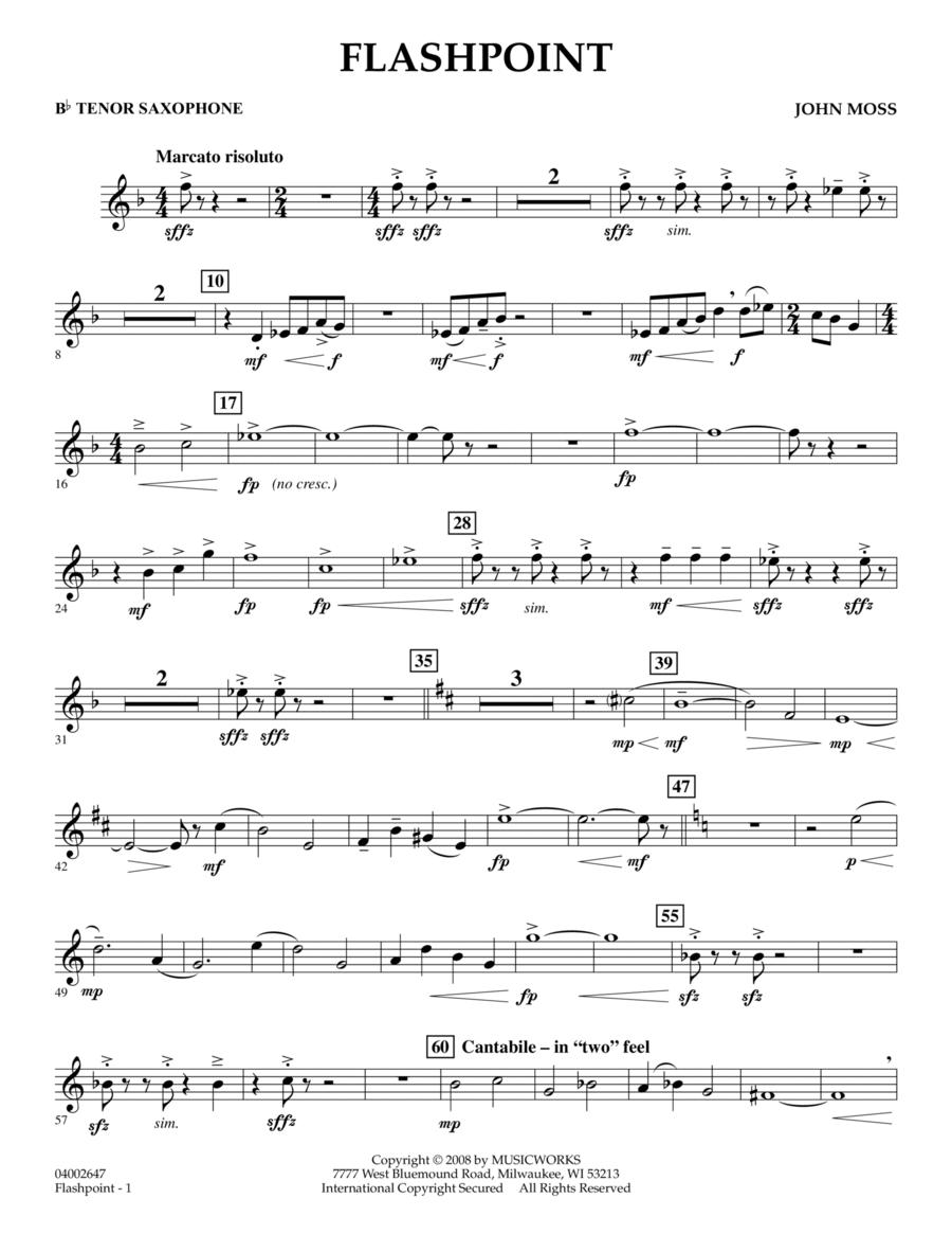 Flashpoint - Bb Tenor Saxophone
