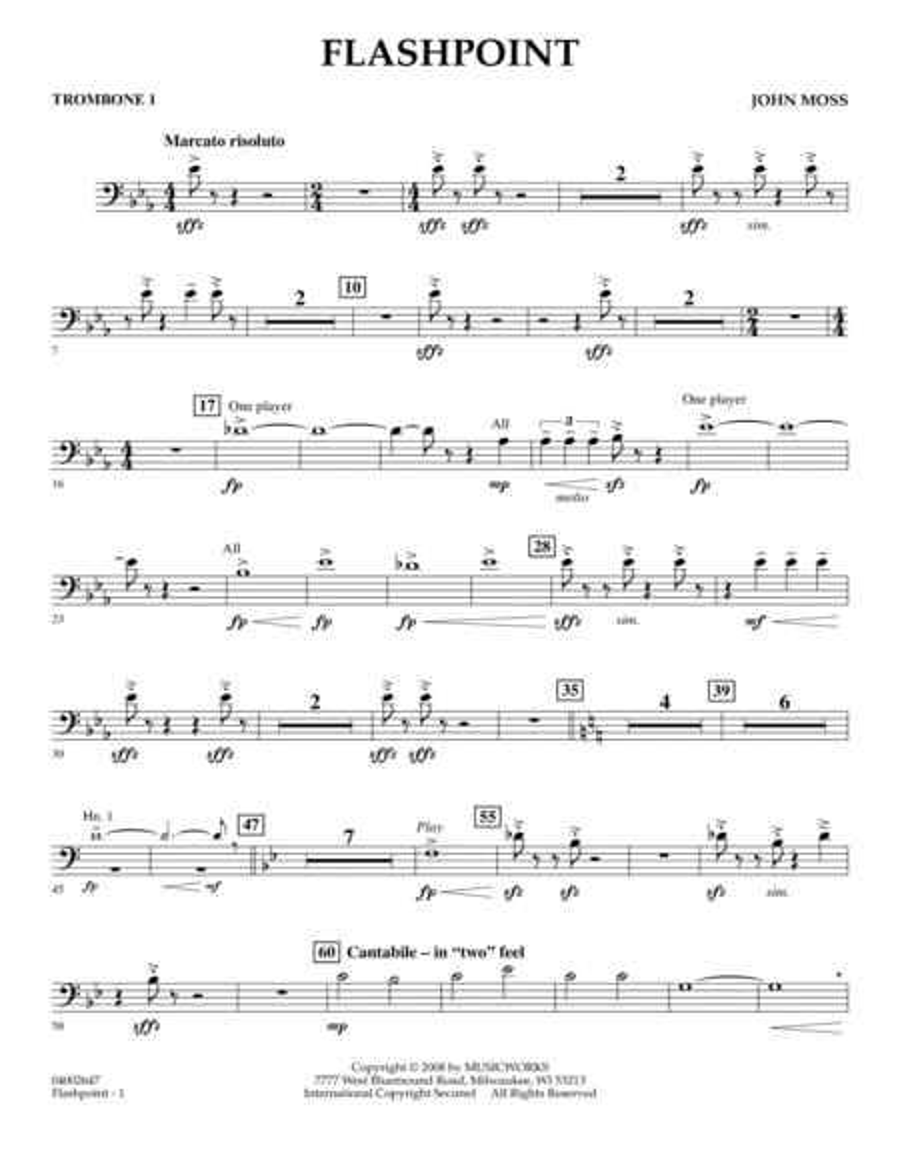 Flashpoint - Trombone 1