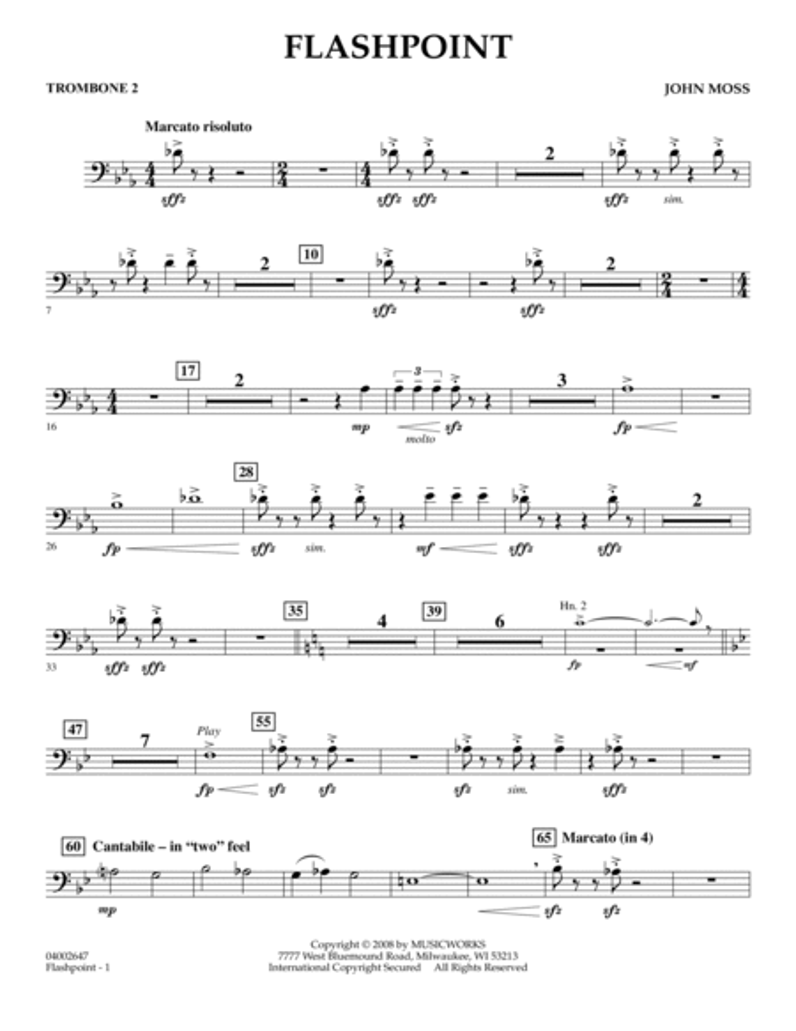 Flashpoint - Trombone 2