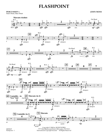 Flashpoint - Percussion 1