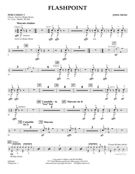 Flashpoint - Percussion 3