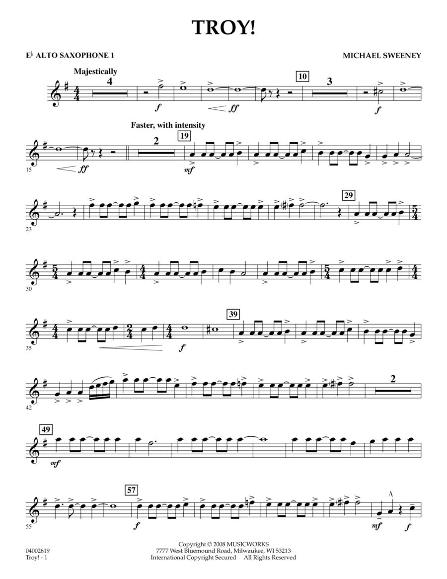 Troy! - Eb Alto Saxophone 1