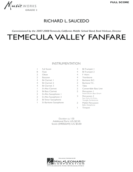 Temecula Valley Fanfare - Full Score
