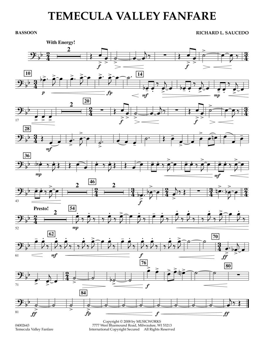 Temecula Valley Fanfare - Bassoon