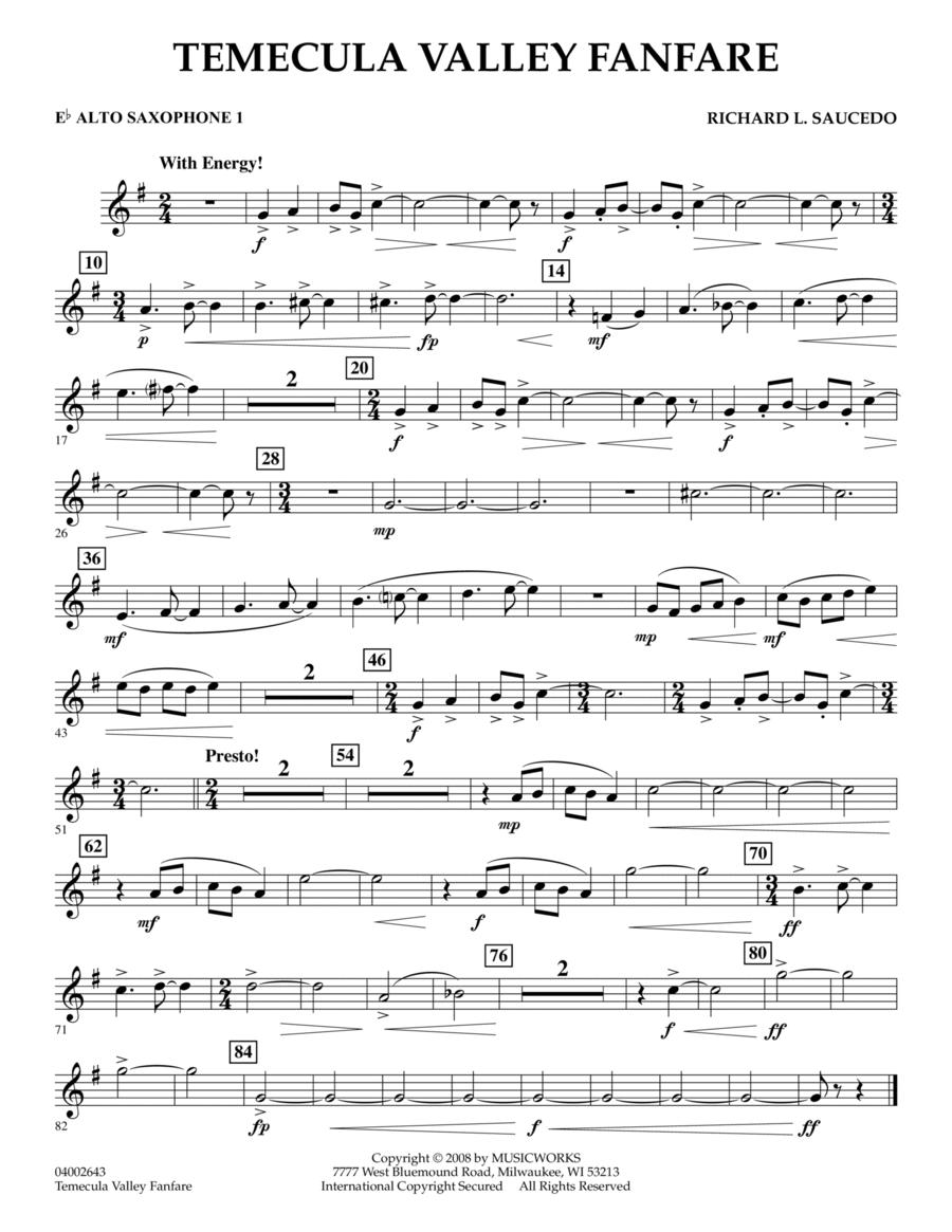 Temecula Valley Fanfare - Eb Alto Saxophone 1