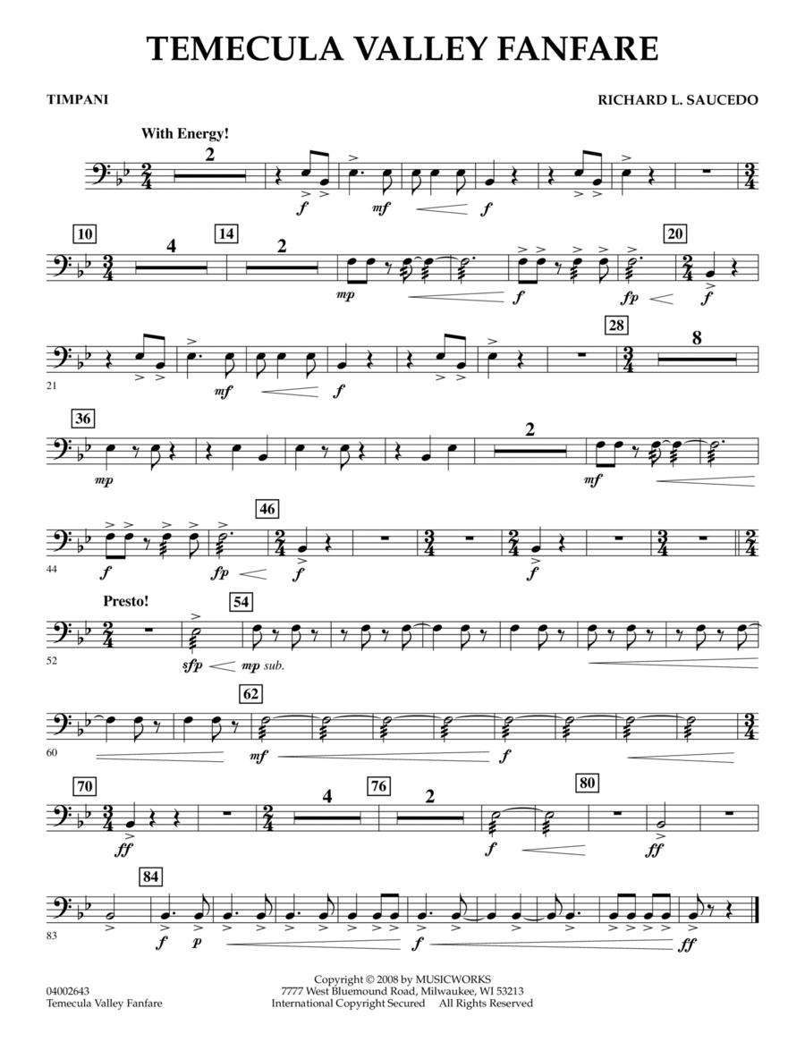 Temecula Valley Fanfare - Timpani