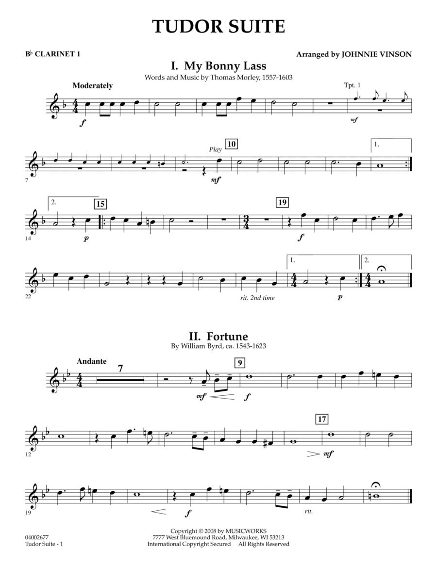 Tudor Suite - Bb Clarinet 1