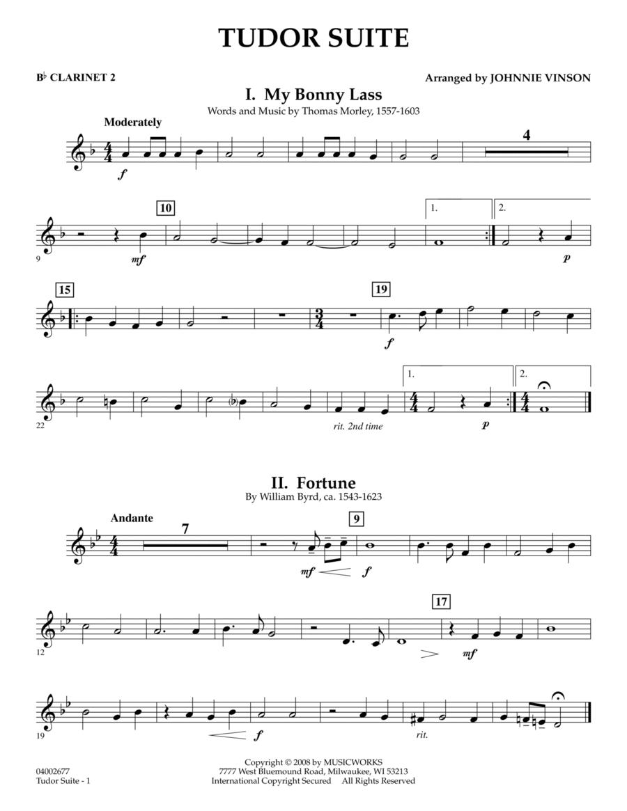 Tudor Suite - Bb Clarinet 2