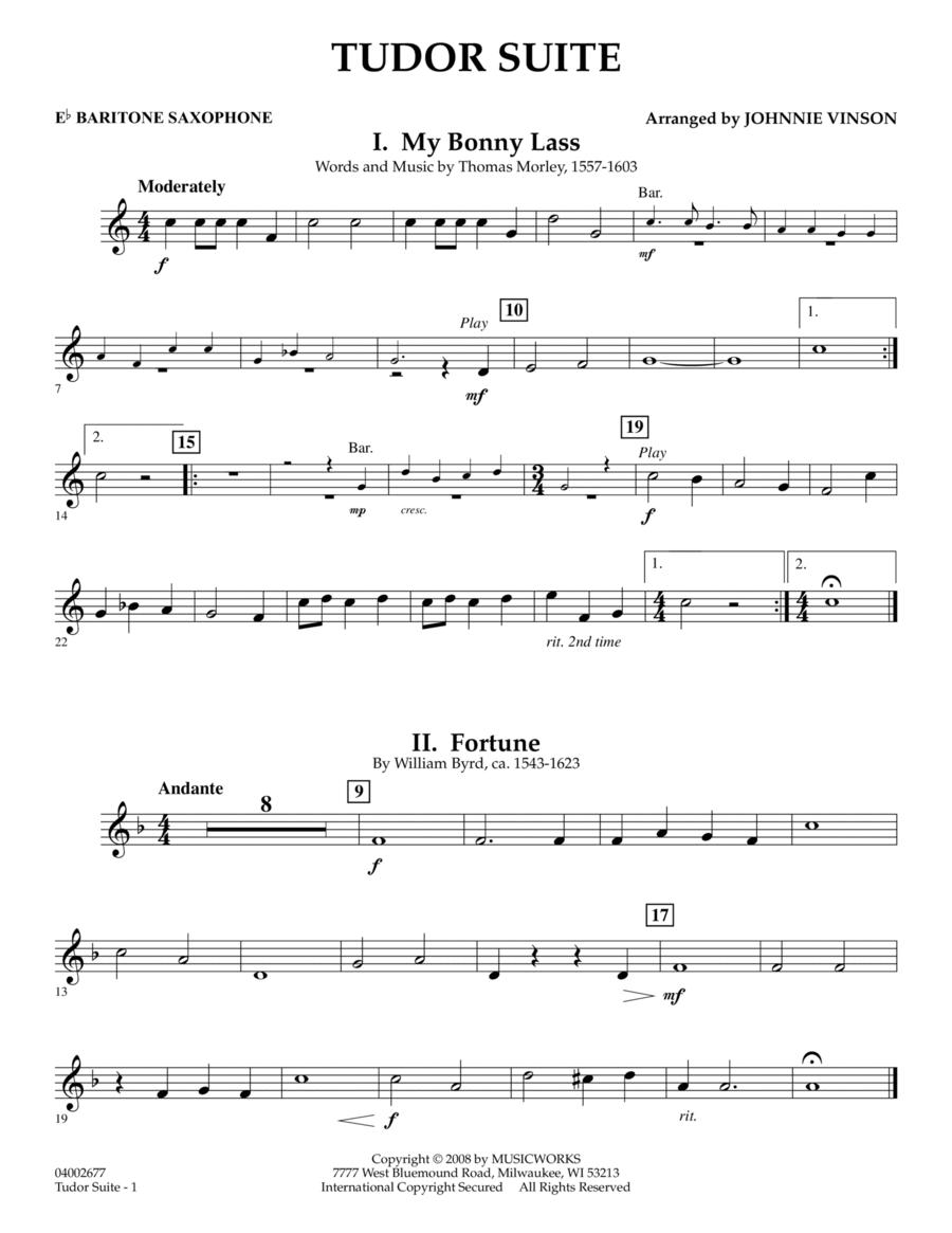Tudor Suite - Eb Baritone Saxophone