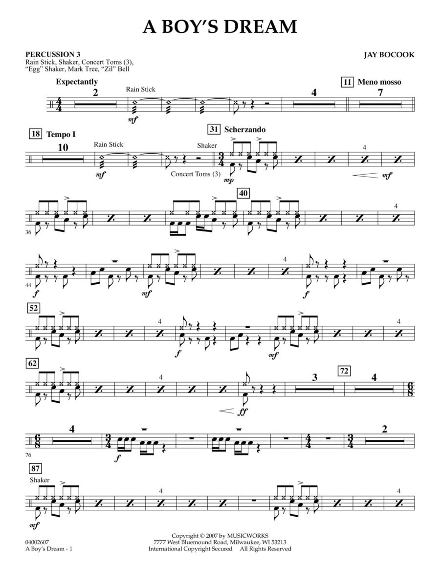 A Boy's Dream - Percussion 3