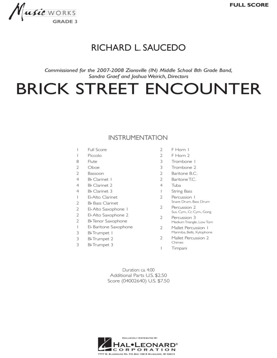 Brick Street Encounter - Full Score