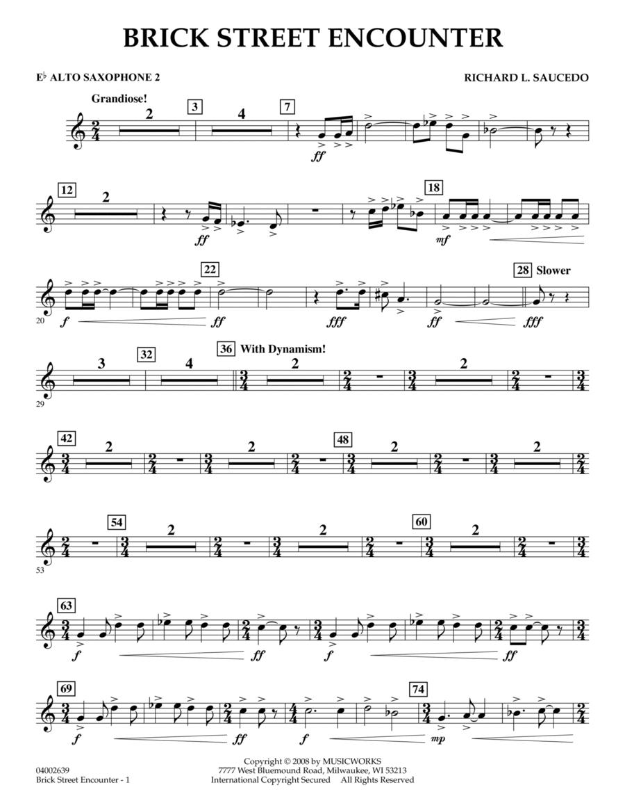 Brick Street Encounter - Eb Alto Saxophone 2