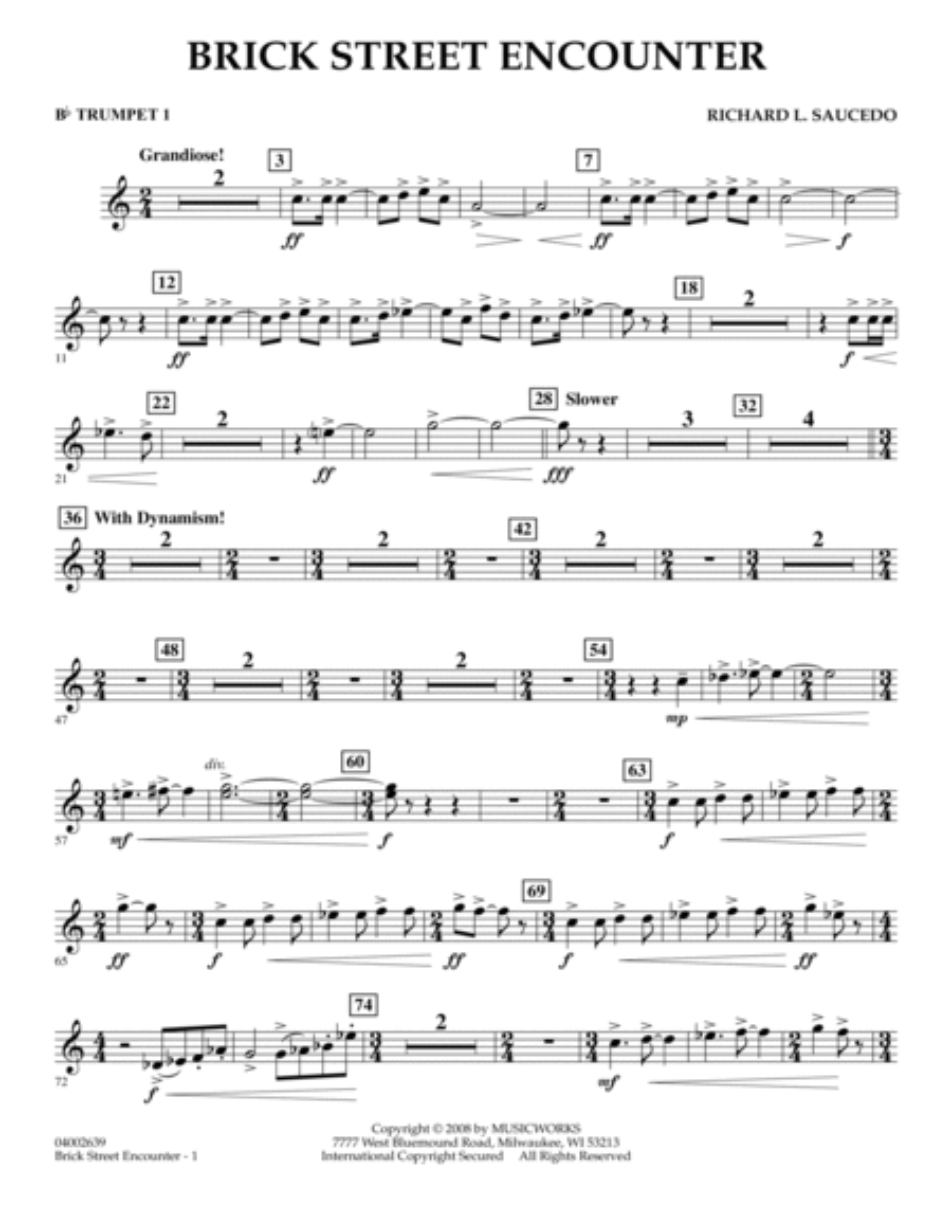 Brick Street Encounter - Bb Trumpet 1