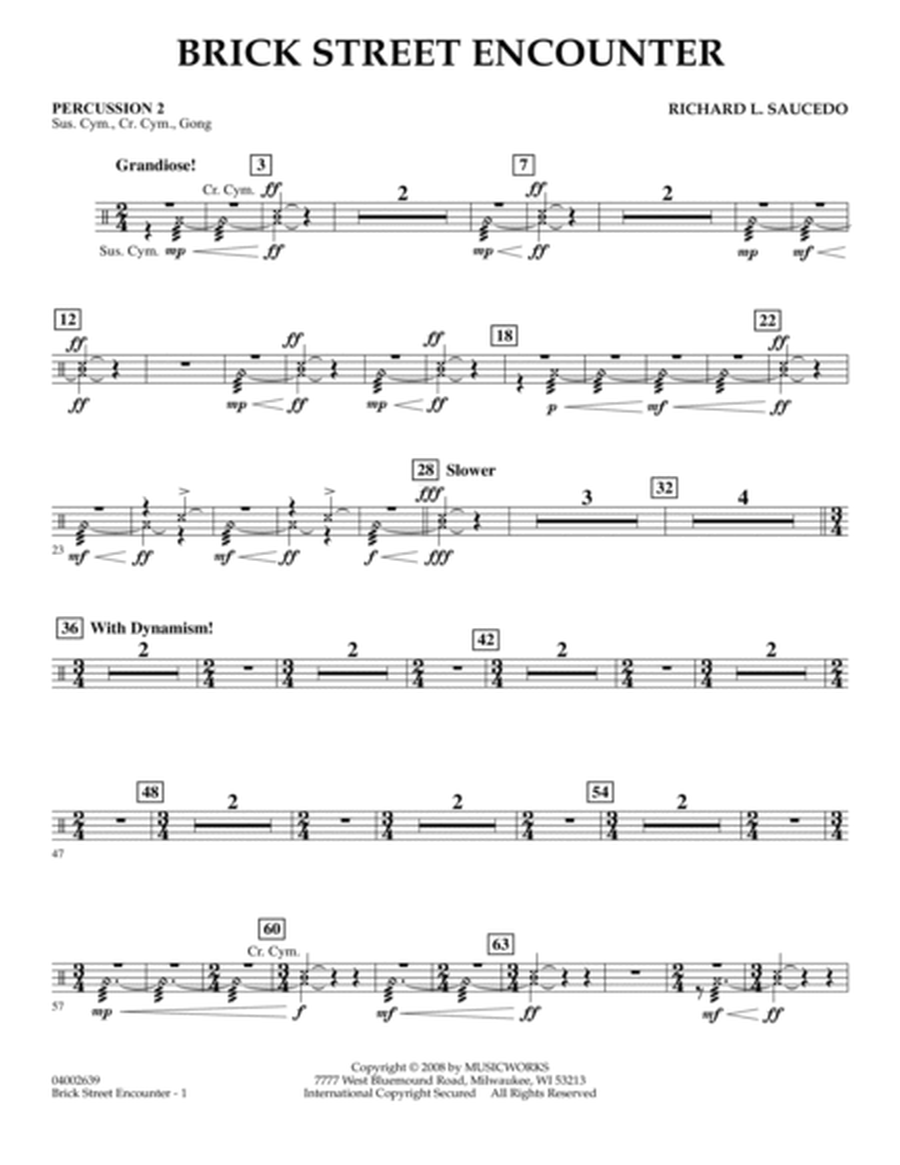 Brick Street Encounter - Percussion 2