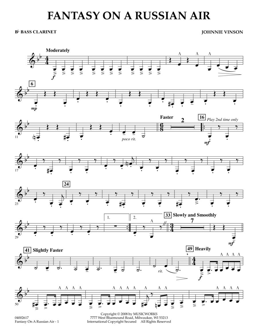 Fantasy on a Russian Air - Bb Bass Clarinet