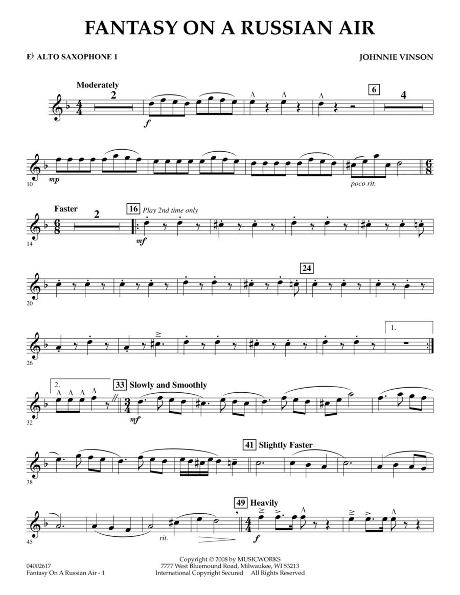 Fantasy on a Russian Air - Eb Alto Saxophone 1