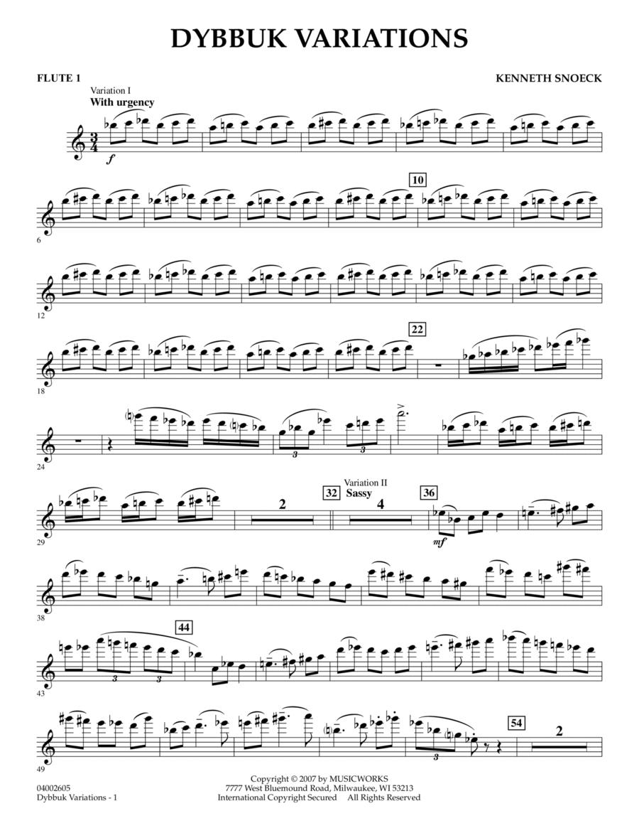 Dybbuk Variations - Flute 1