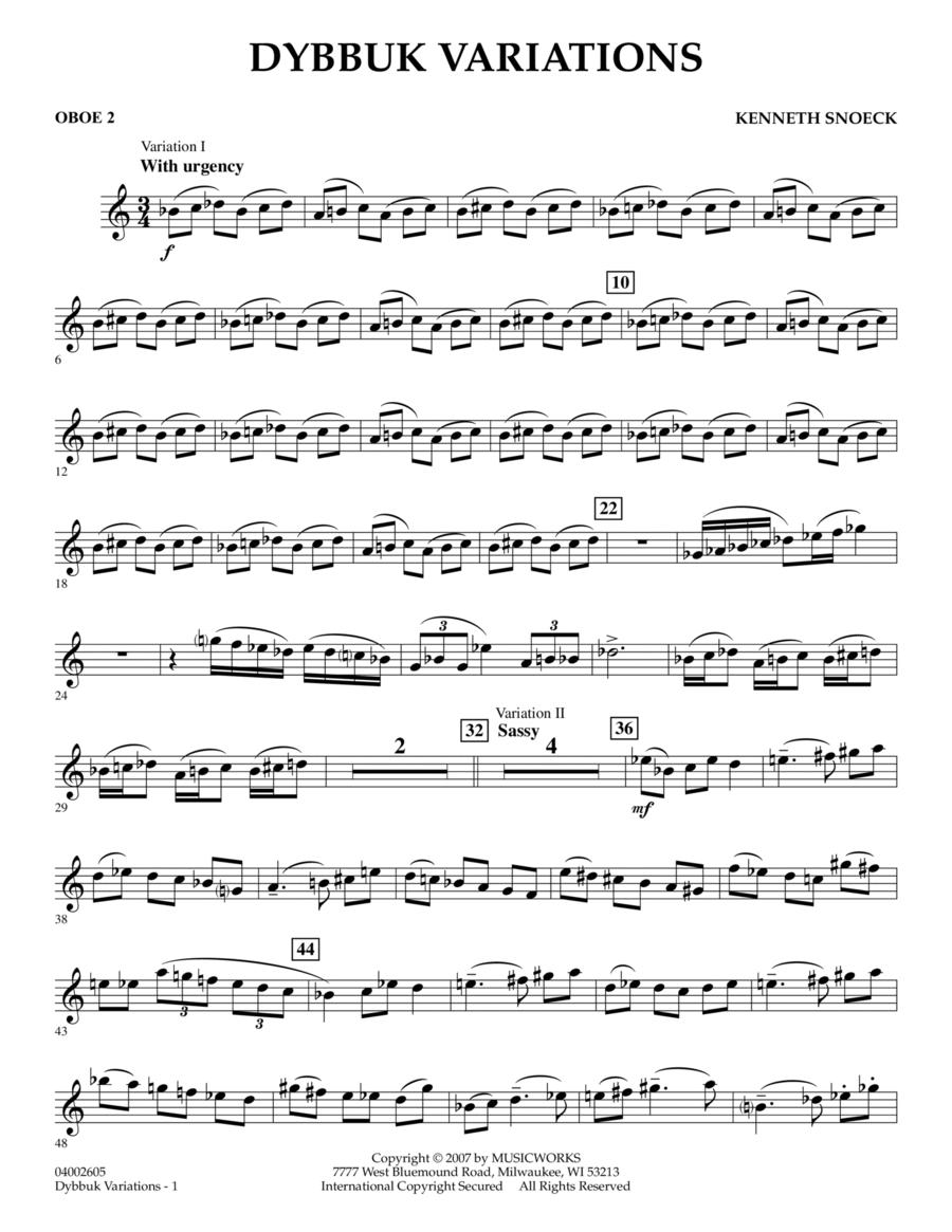 Dybbuk Variations - Oboe 2