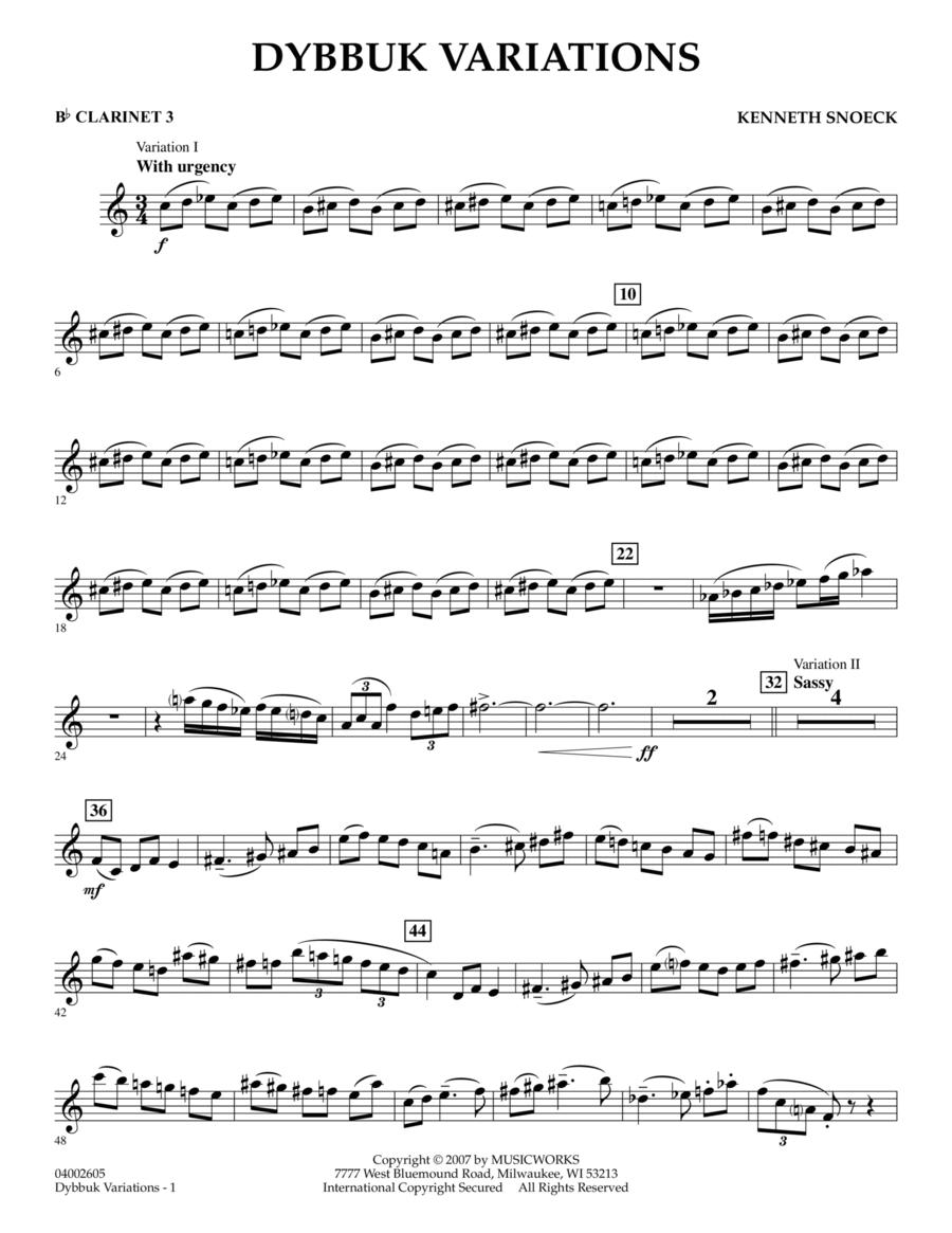 Dybbuk Variations - Bb Clarinet 3