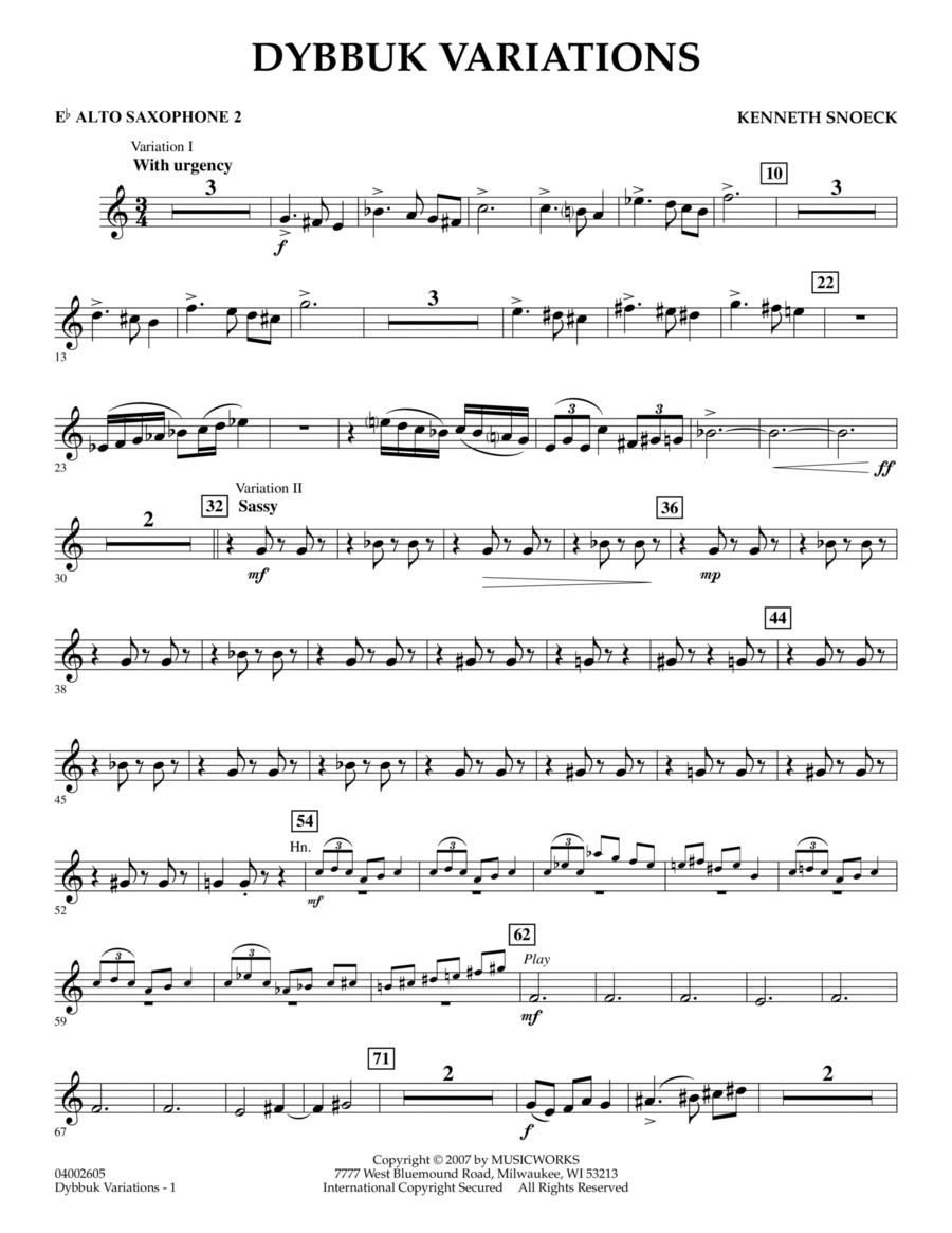 Dybbuk Variations - Eb Alto Saxophone 2