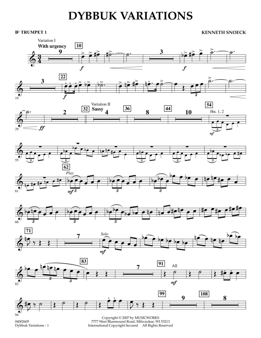 Dybbuk Variations - Bb Trumpet 1