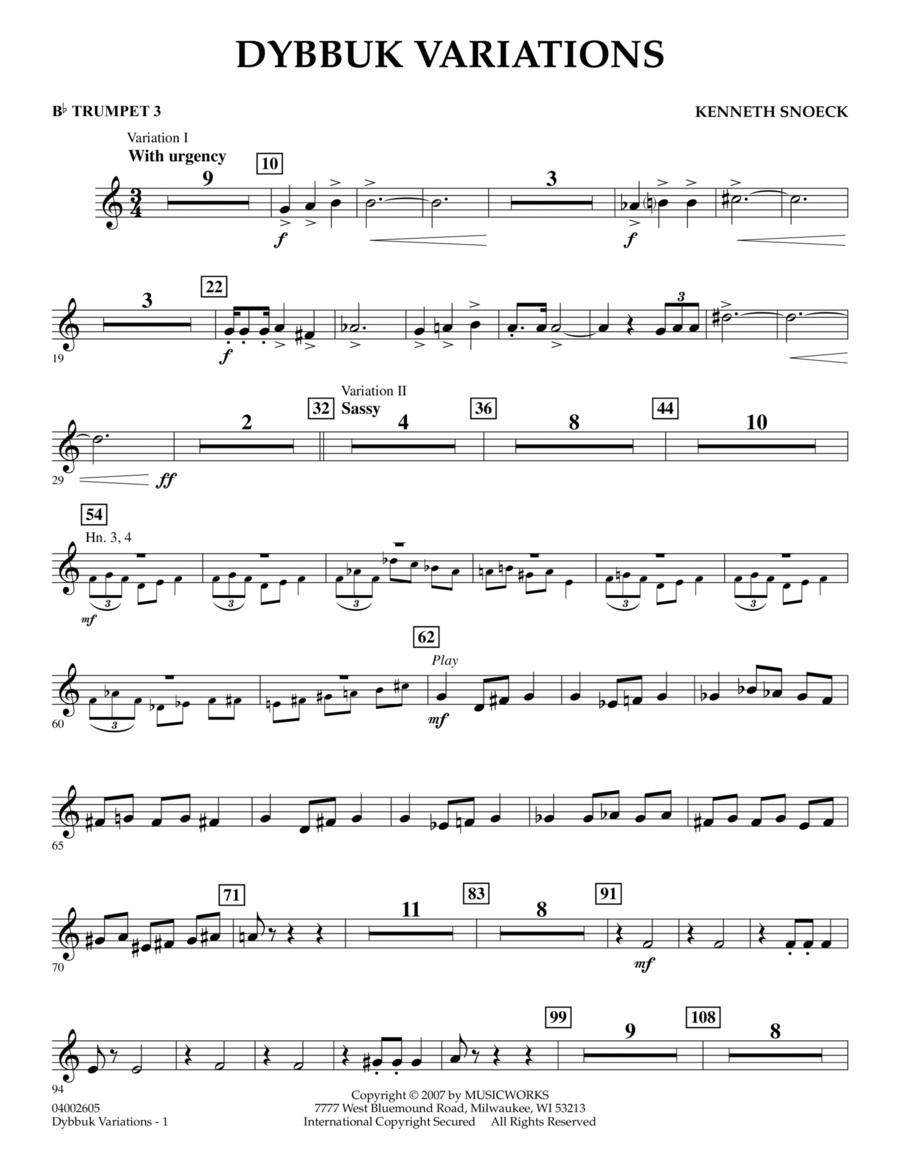 Dybbuk Variations - Bb Trumpet 3