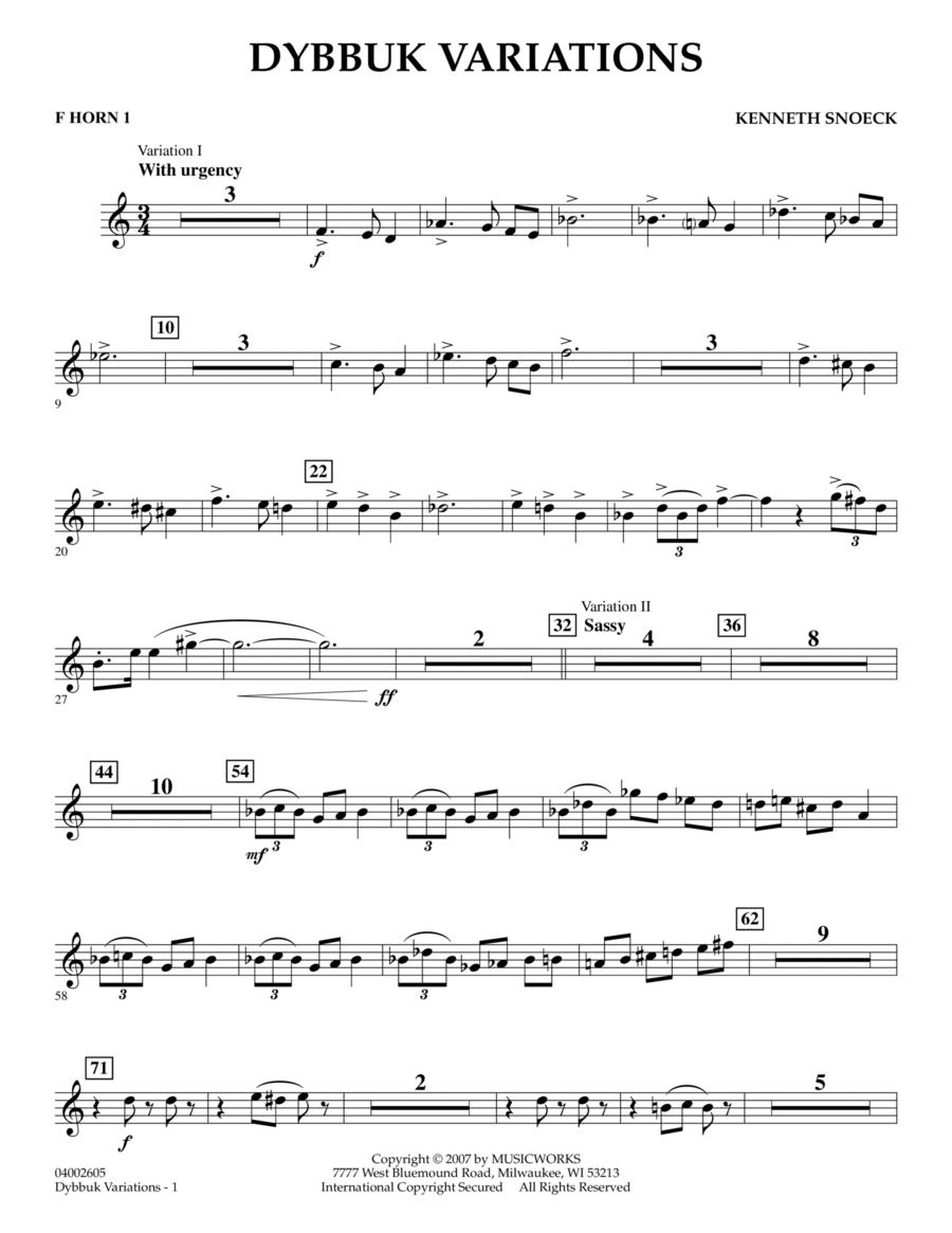 Dybbuk Variations - F Horn 1